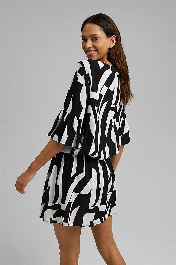 Beach dress made of LENZING™ ECOVERO™, BLACK, detail image number 1