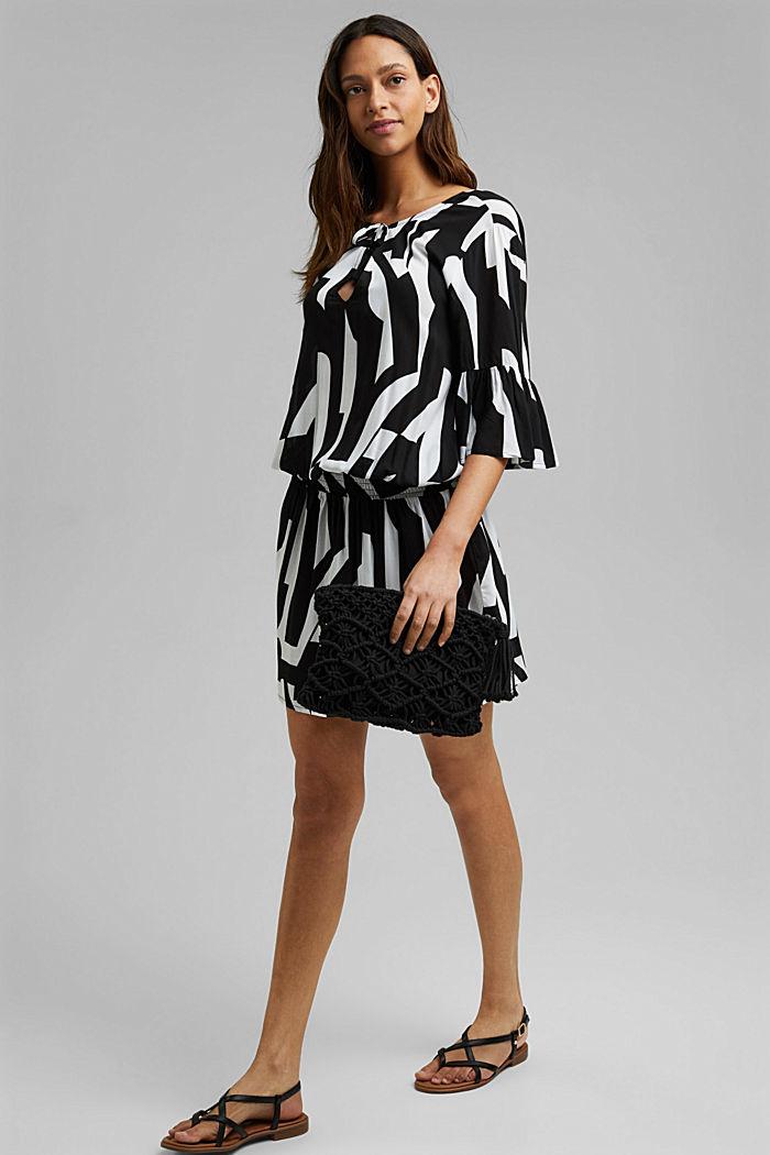 Beach dress made of LENZING™ ECOVERO™, BLACK, detail image number 2