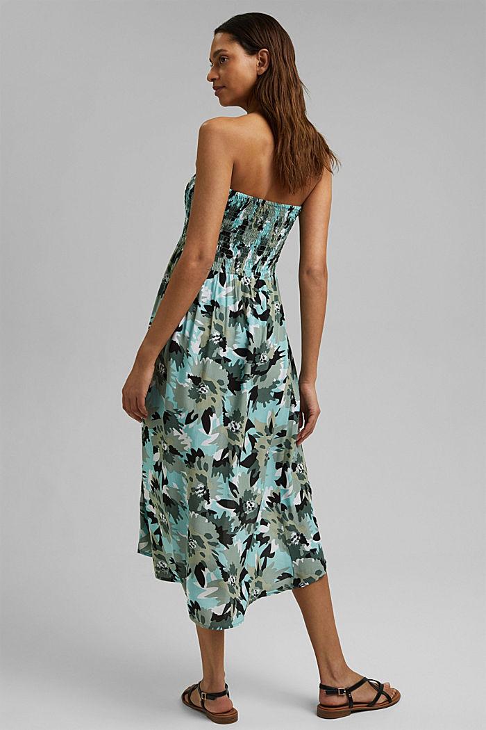 Bandeau dress made of LENZING™ ECOVERO™, LIGHT KHAKI, detail image number 1