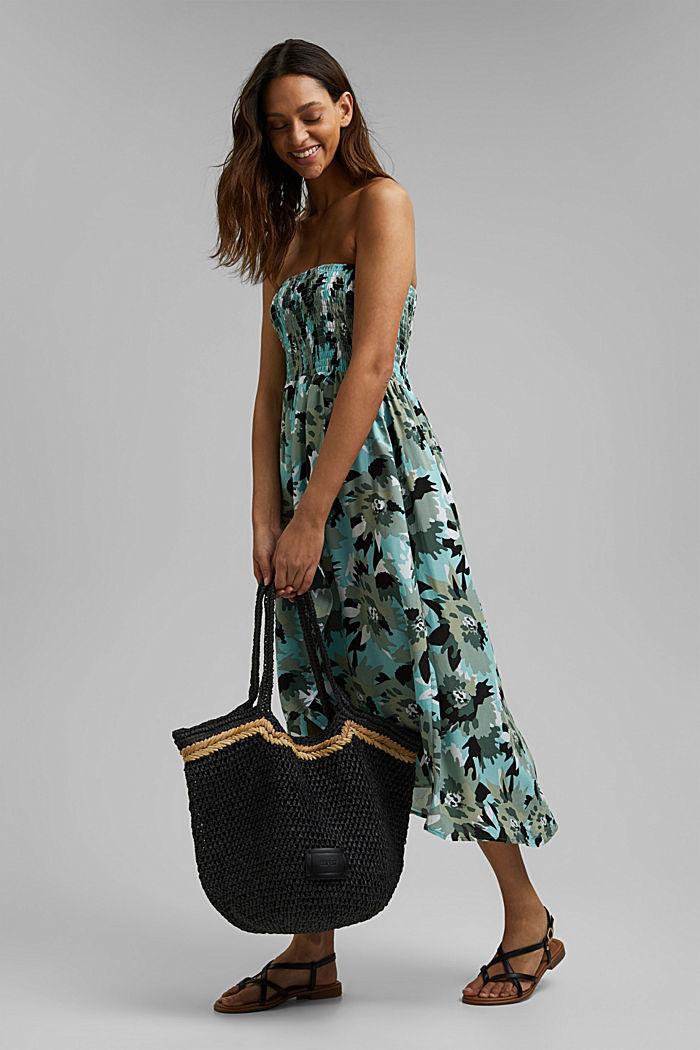 Bandeau dress made of LENZING™ ECOVERO™, LIGHT KHAKI, detail image number 2