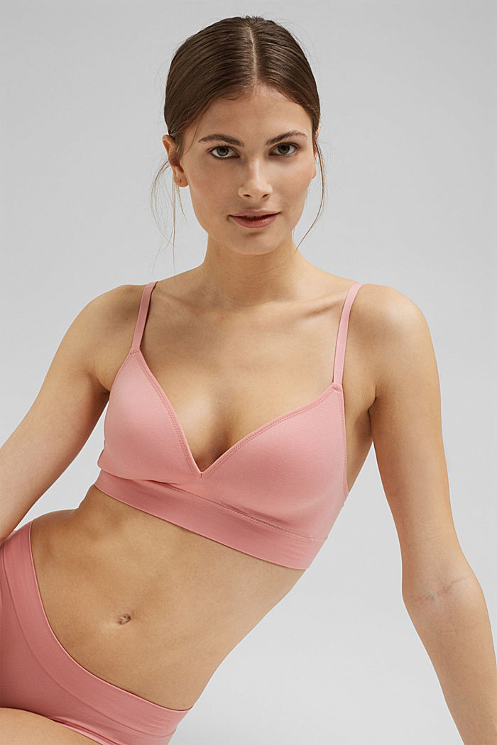 Virtually seamless padded bra, CORAL, detail image number 4