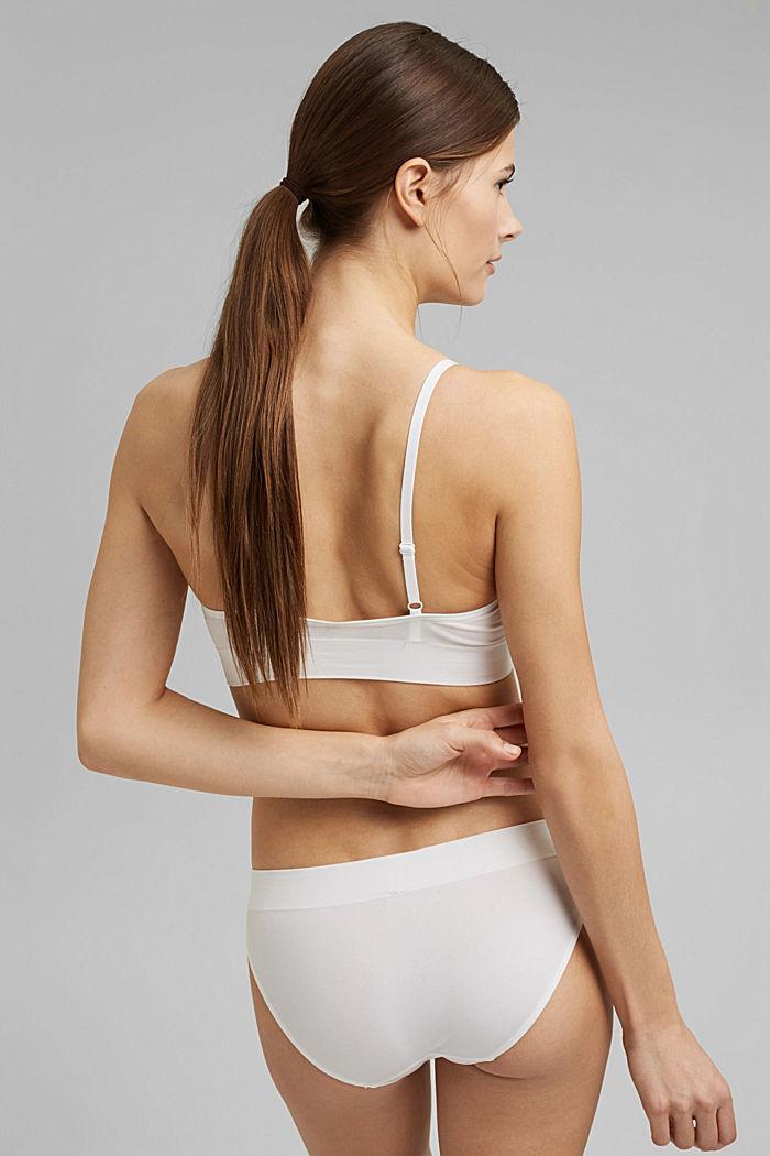 Virtually seamless unpadded bra, OFF WHITE, detail image number 1