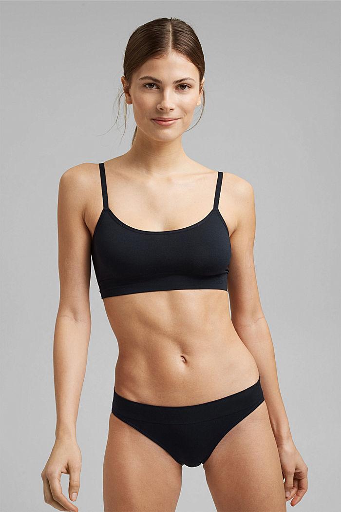 Virtually seamless unpadded bra, NAVY, detail image number 0
