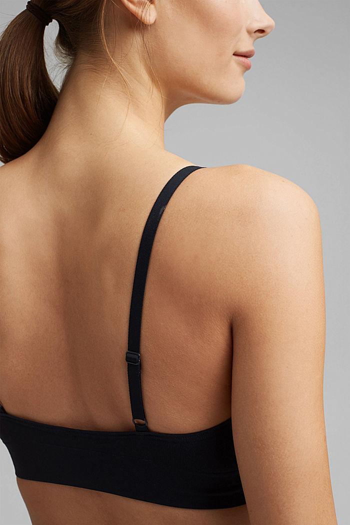 Virtually seamless unpadded bra, NAVY, detail image number 2