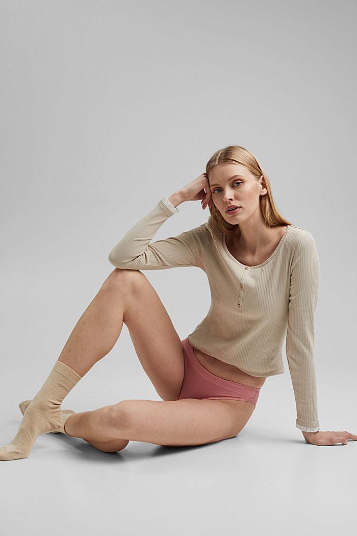 2er Pack Hipster-Slip, Organic Cotton, CORAL, detail image number 1