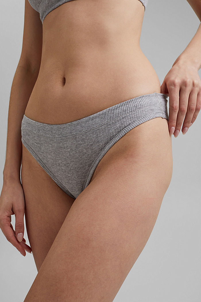 2er Pack Hipster-Slip, Organic Cotton, MEDIUM GREY, detail image number 1