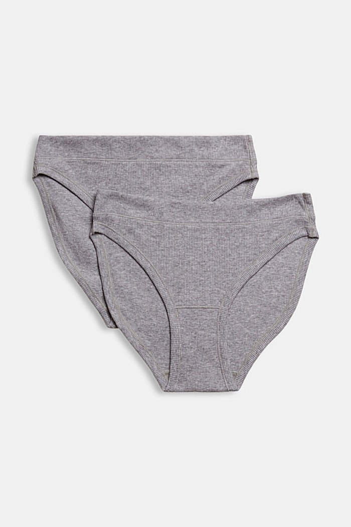 2er Pack Hipster-Slip, Organic Cotton, MEDIUM GREY, detail image number 3