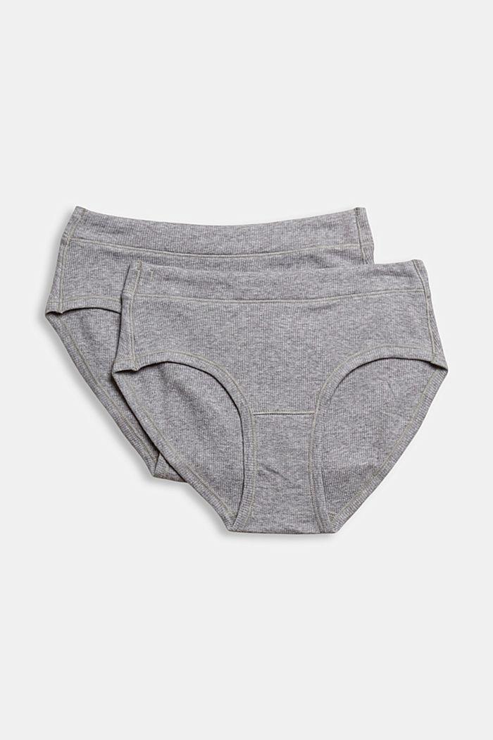 Set van 2 hipster-shorts, biologisch katoen