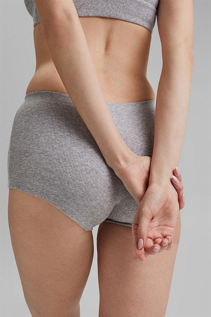 Feinripp-Hotpants, Organic Cotton, MEDIUM GREY, detail image number 3