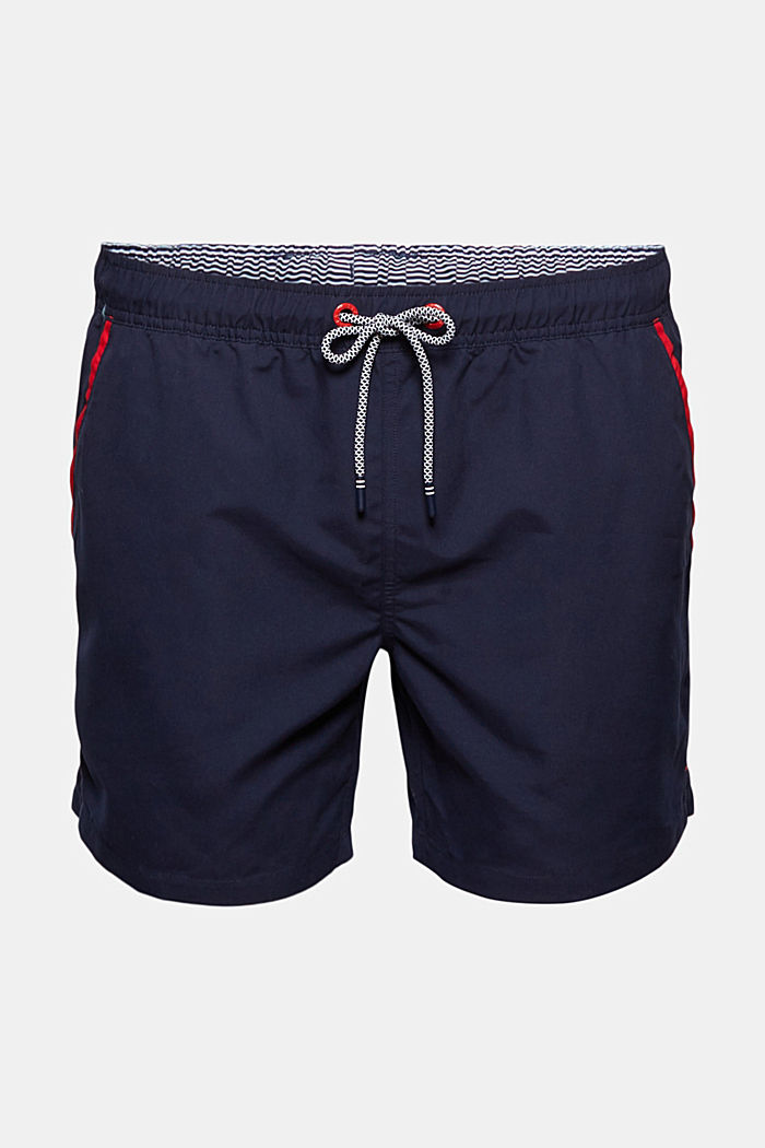 Recycled: swim shorts with neon details, NAVY, detail image number 4