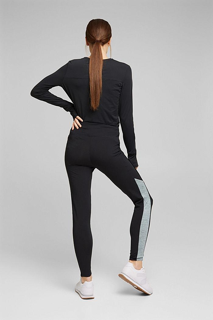 Recycelt: Active-Leggings mit E-Dry, BLACK, detail image number 3
