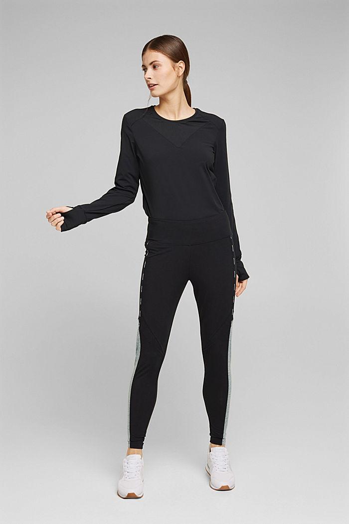 Recycelt: Active-Leggings mit E-Dry, BLACK, detail image number 5