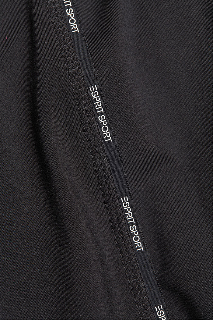Recycled: high-performance leggings with an E-DRY finish, BLACK, detail image number 4
