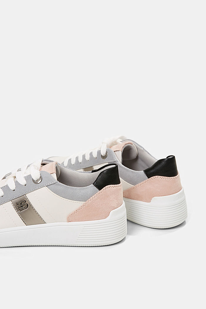 Trainers in a mix of materials, LIGHT GREY, detail image number 5