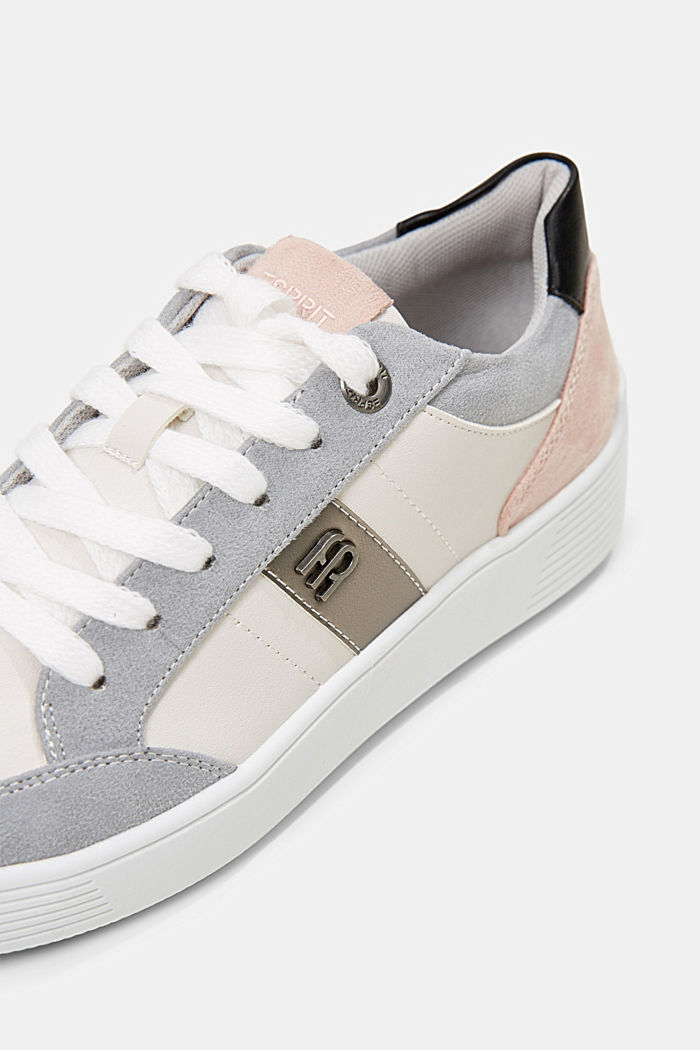 Trainers in a mix of materials, LIGHT GREY, detail image number 4