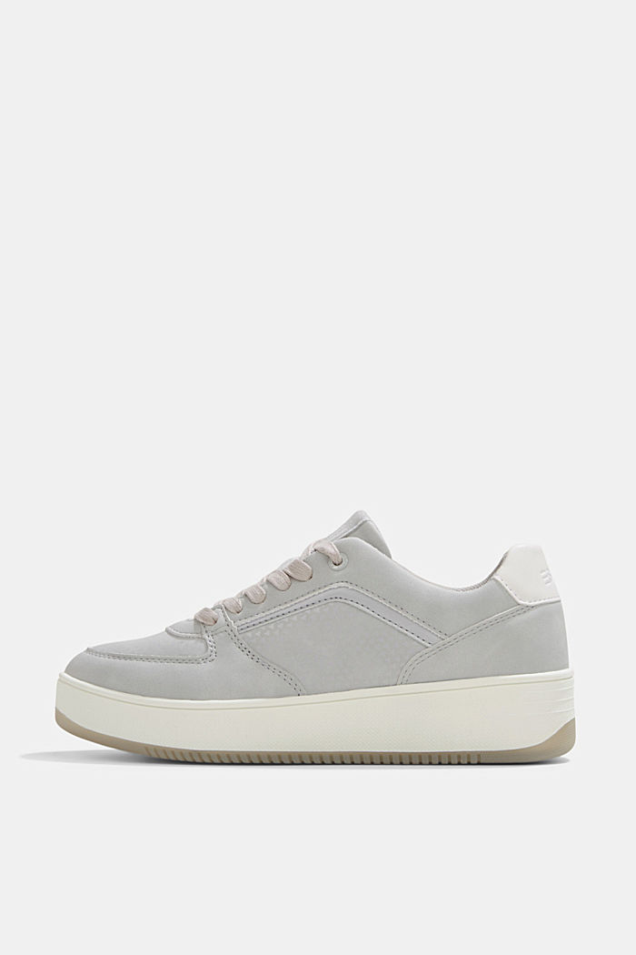 Trainers with a platform sole, LIGHT GREY, detail image number 0
