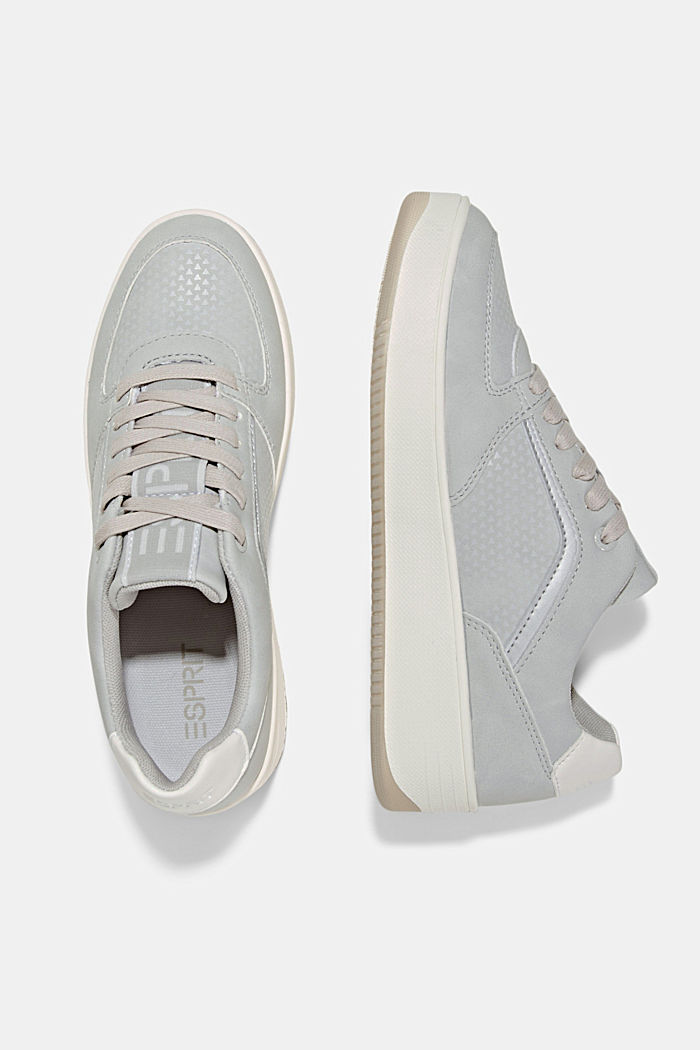 Trainers with a platform sole, LIGHT GREY, detail image number 1