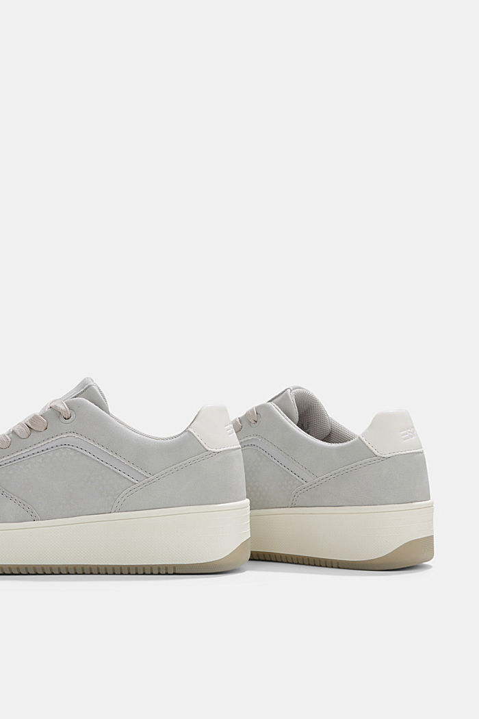 Trainers with a platform sole, LIGHT GREY, detail image number 5