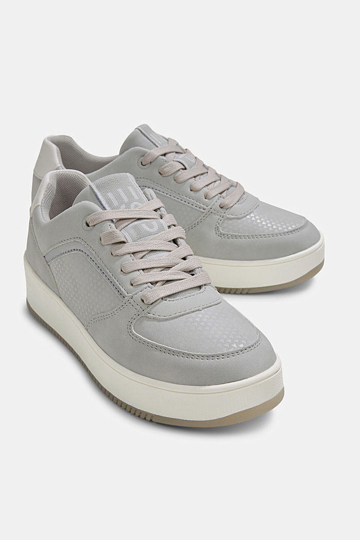 Trainers with a platform sole, LIGHT GREY, detail image number 4