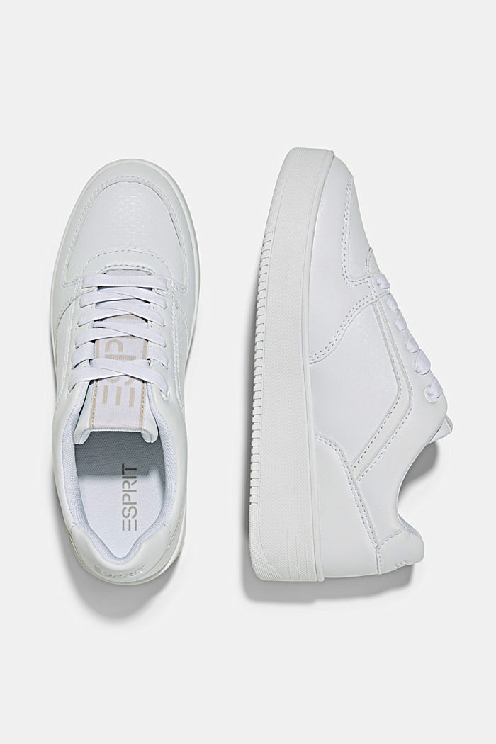 Trainers with a platform sole, WHITE, detail image number 1