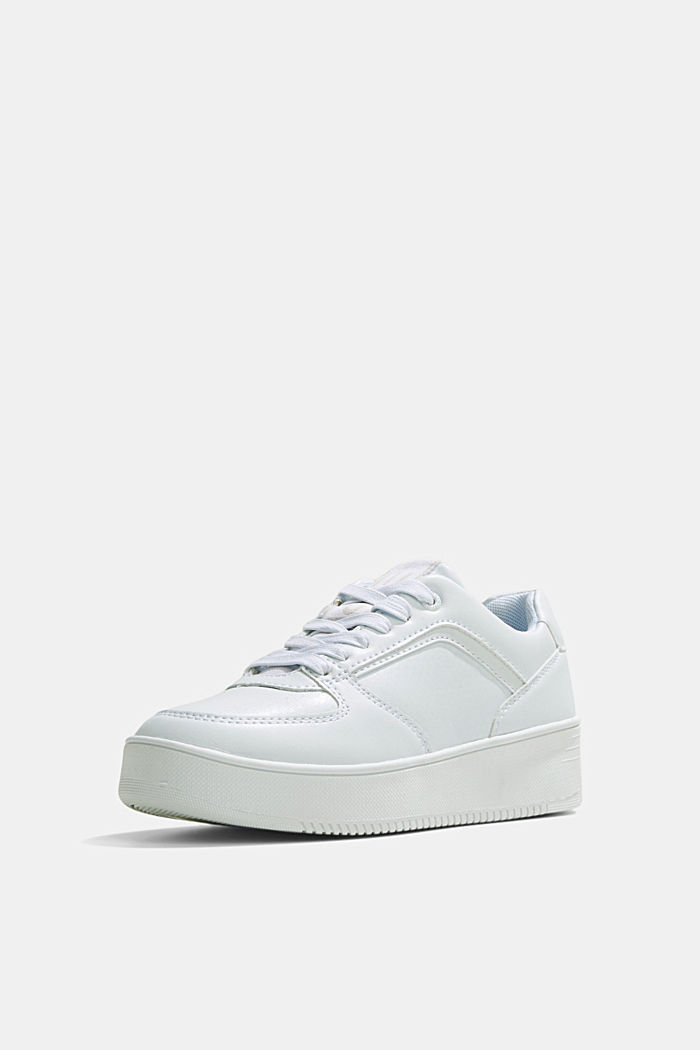 Trainers with a platform sole, WHITE, detail image number 2