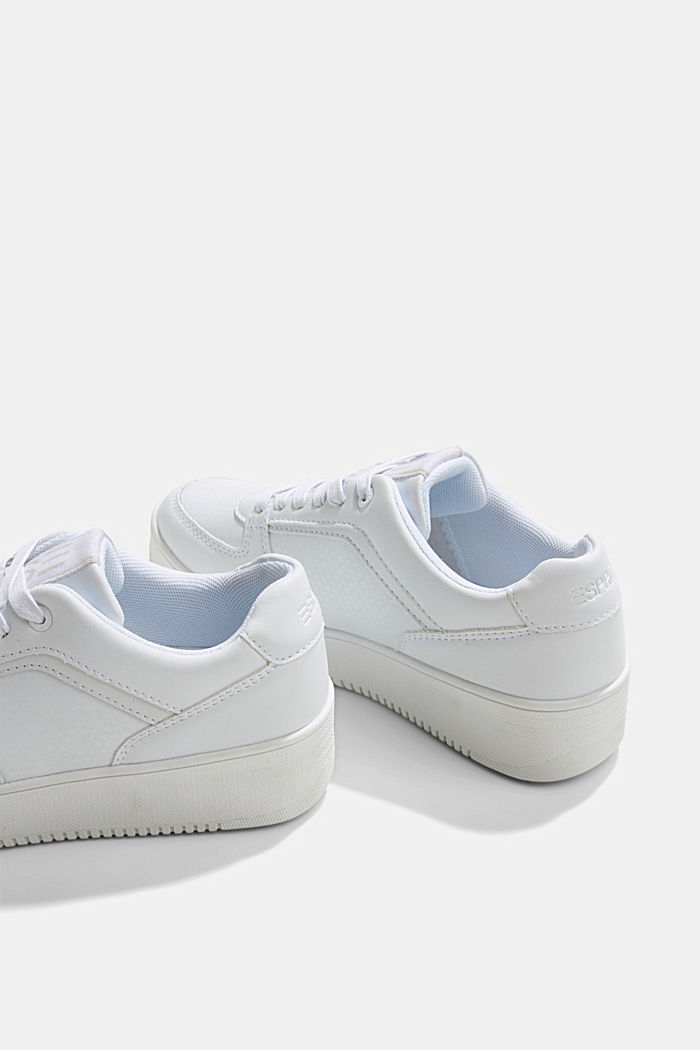 Trainers with a platform sole, WHITE, detail image number 5