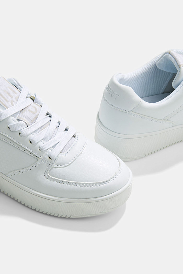 Trainers with a platform sole, WHITE, detail image number 4