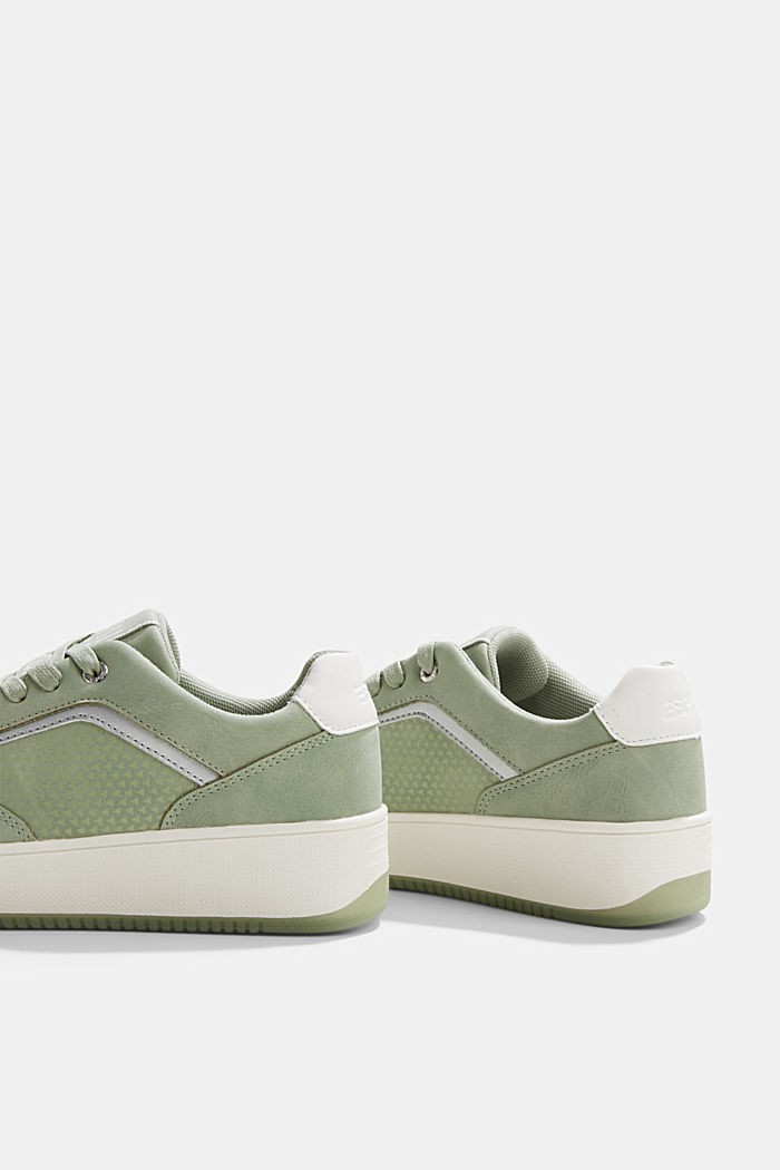 Trainers with a platform sole, DUSTY GREEN, detail image number 5