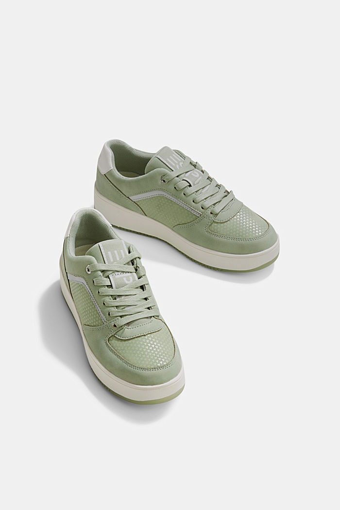 Trainers with a platform sole, DUSTY GREEN, detail image number 6