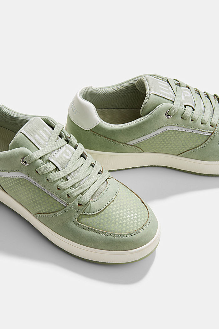 Trainers with a platform sole, DUSTY GREEN, detail image number 4