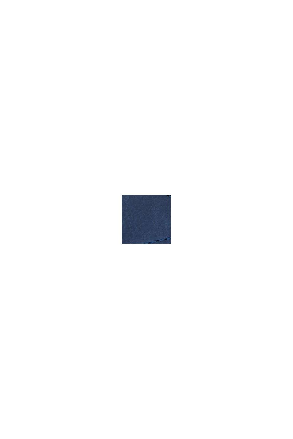 Sneakers en similicuir à semelle à plateau, DARK BLUE, swatch