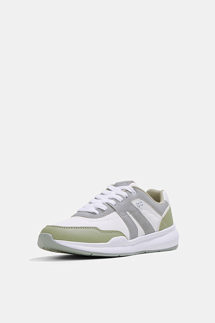Trainers in a mixed material look, DUSTY GREEN, detail image number 2