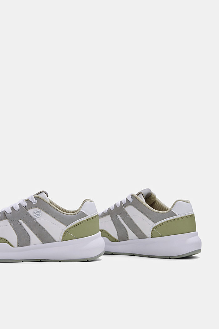 Trainers in a mixed material look, DUSTY GREEN, detail image number 5