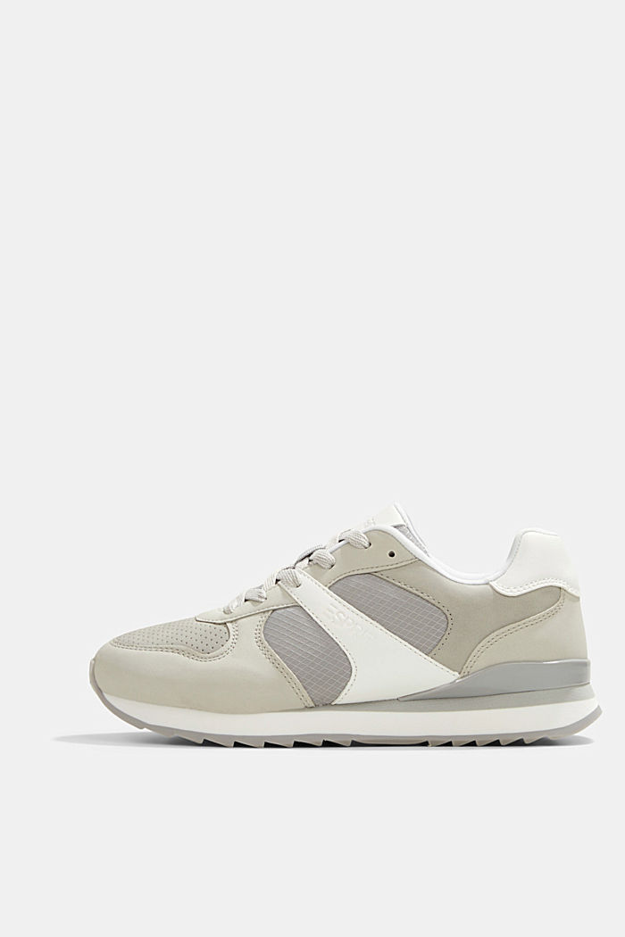 Faux leather trainers, LIGHT GREY, detail image number 0