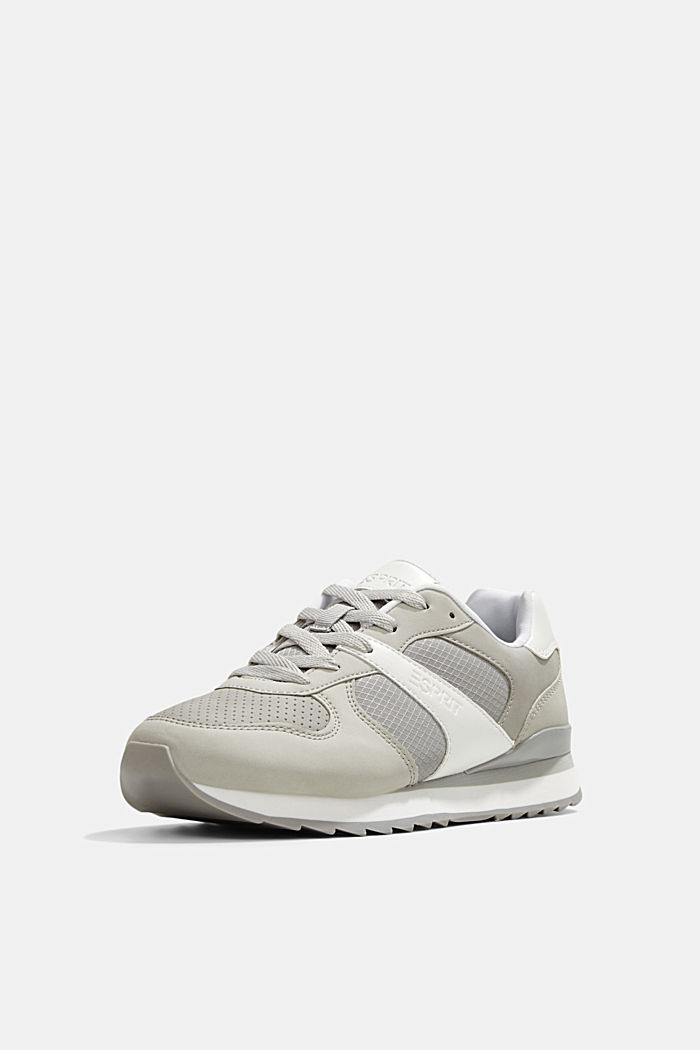 Sneakers in similpelle, LIGHT GREY, detail image number 2
