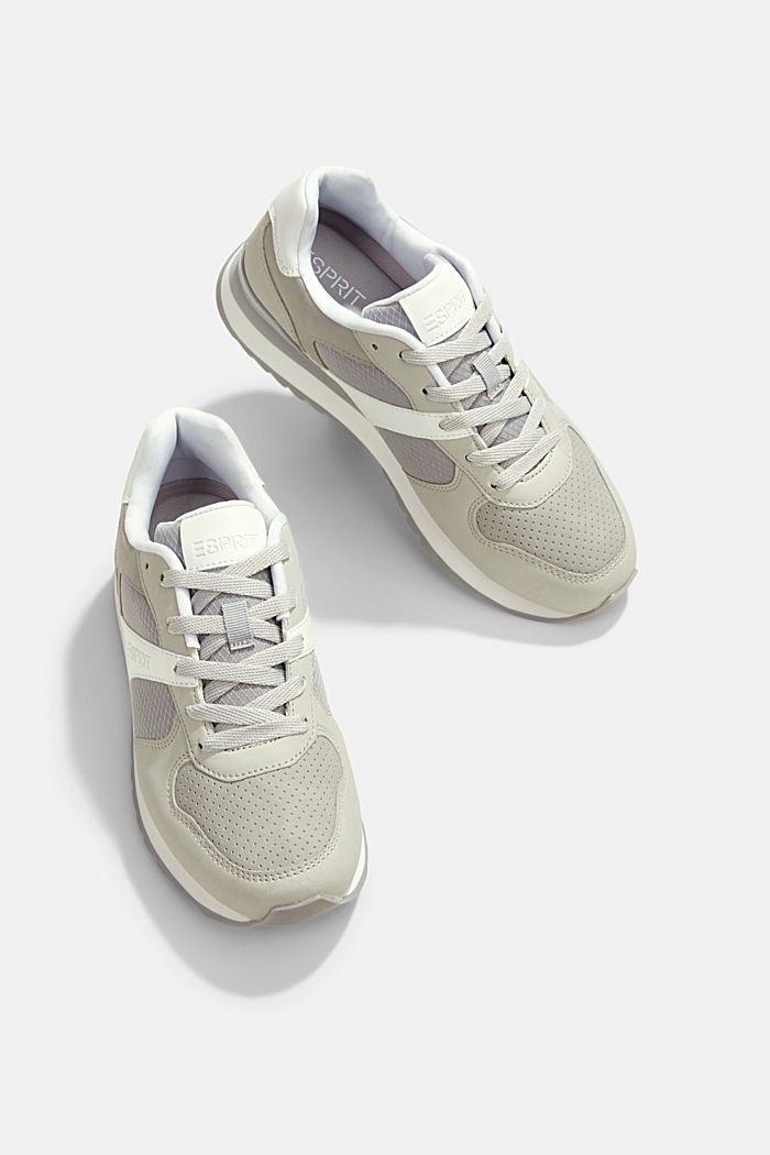 Faux leather trainers, LIGHT GREY, detail image number 5
