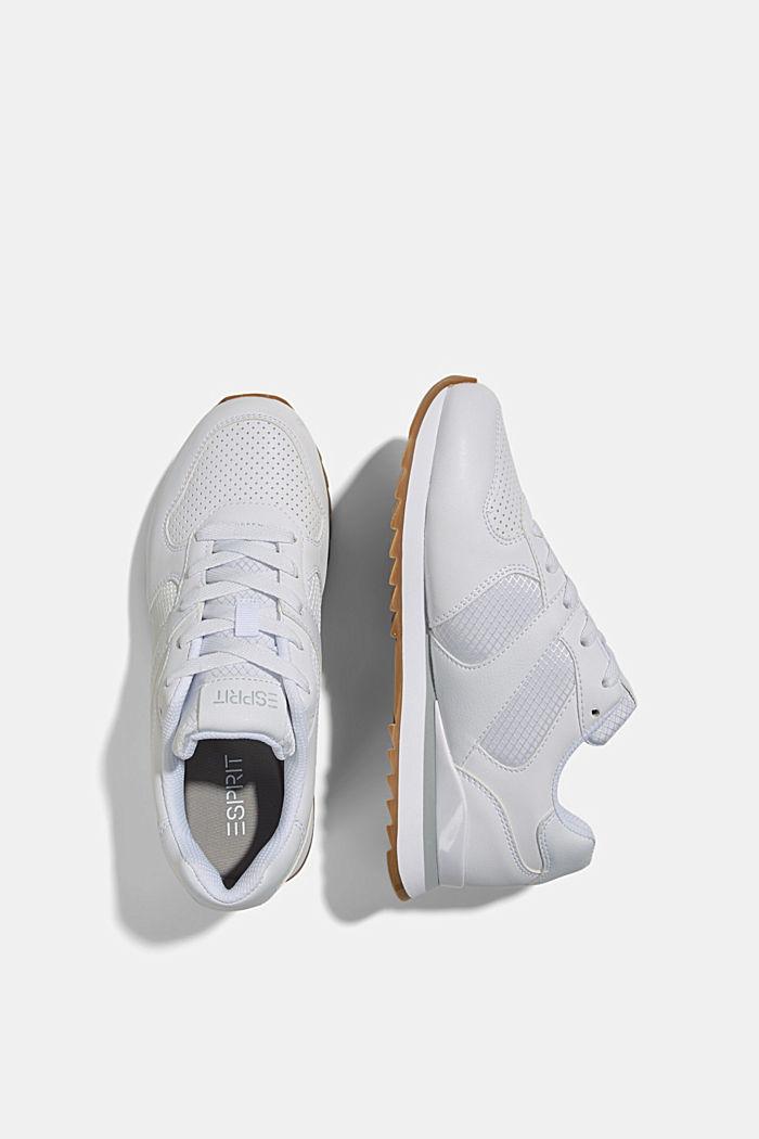 Sneakers en similicuir, WHITE, detail image number 1