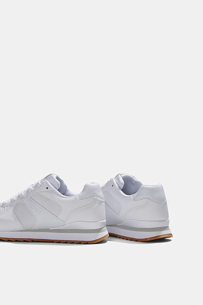 Sneakers en similicuir, WHITE, detail image number 5