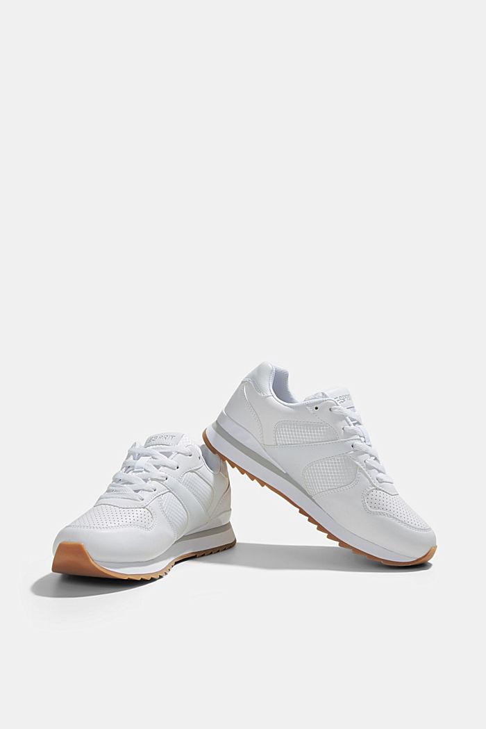 Sneakers en similicuir, WHITE, detail image number 6