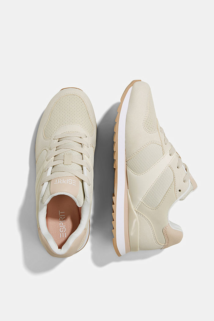 Faux leather trainers, SAND, detail image number 1