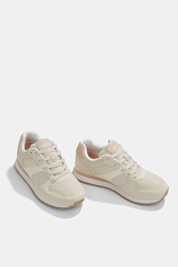 Faux leather trainers, SAND, detail image number 6