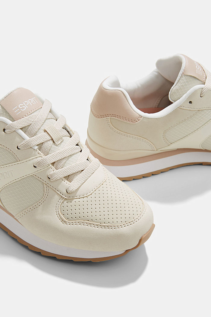 Faux leather trainers, SAND, detail image number 4