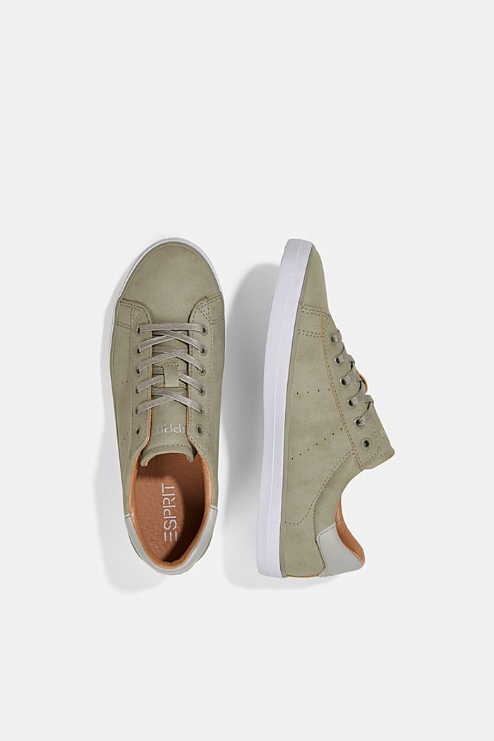 Faux leather trainers, LIGHT GREY, detail image number 1