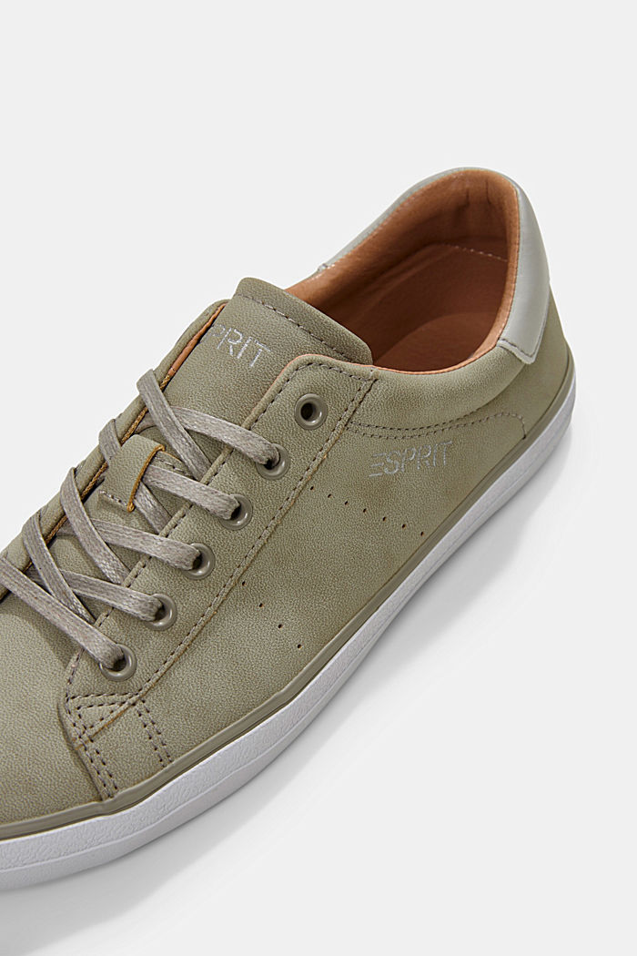 Sneakers in similpelle, LIGHT GREY, detail image number 4