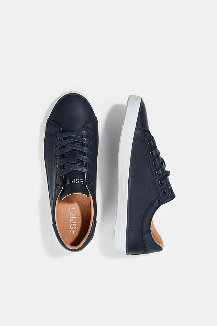 Faux leather trainers, NAVY, detail image number 1
