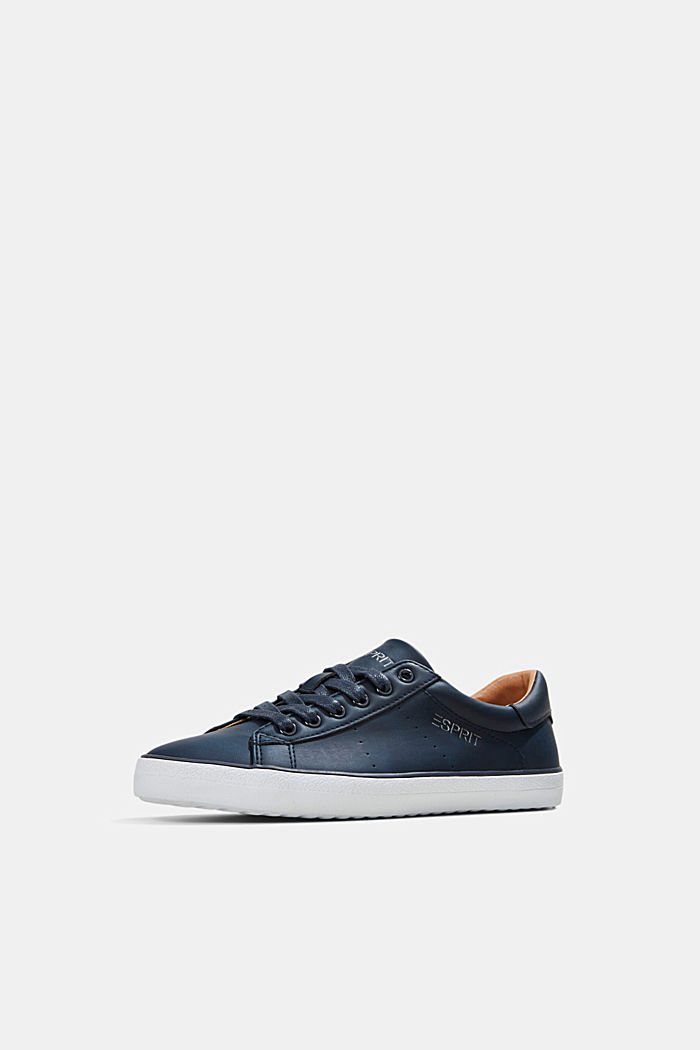 Faux leather trainers, NAVY, detail image number 2
