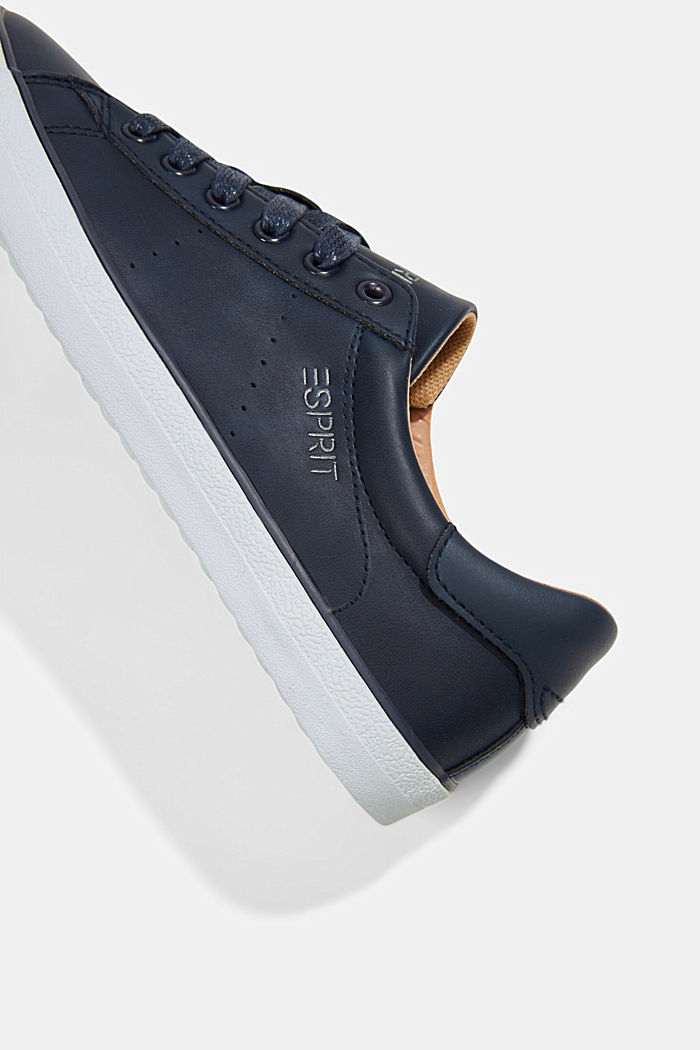 Faux leather trainers, NAVY, detail image number 4