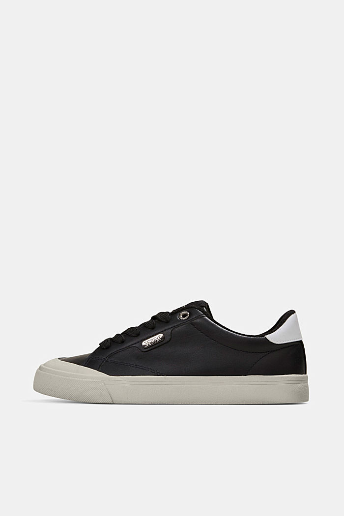 Faux leather trainers, BLACK, detail image number 0