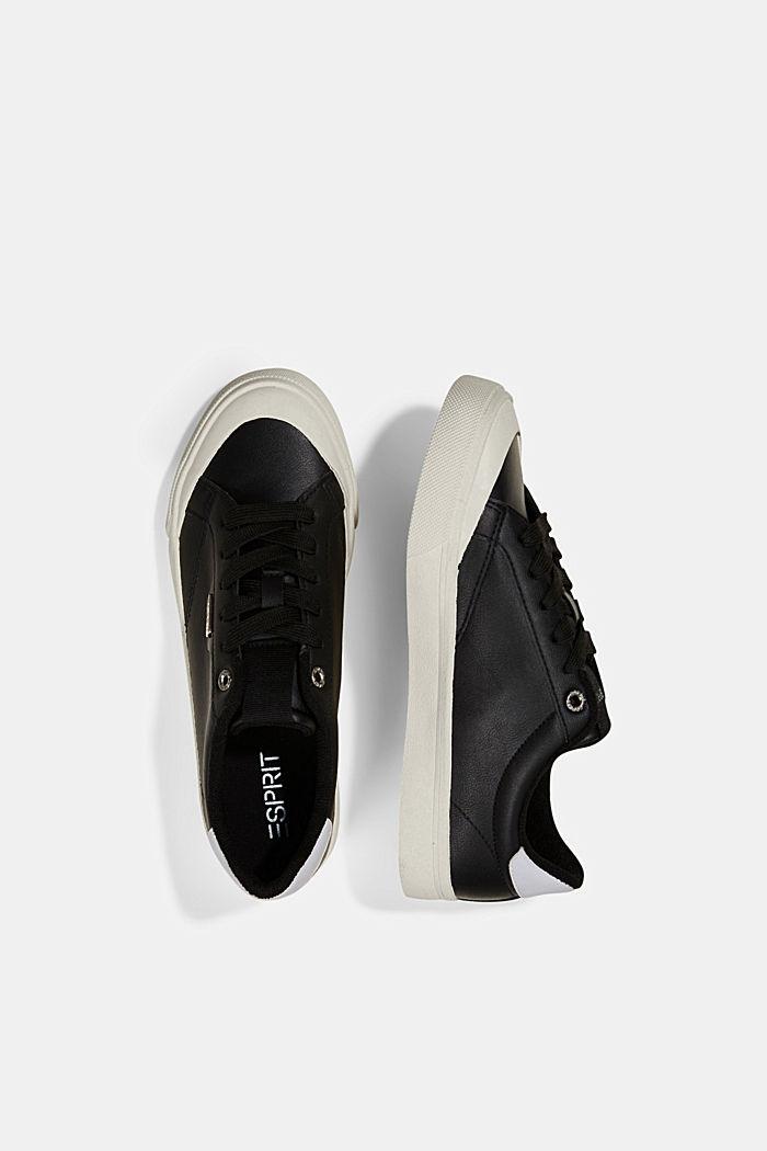 Sneaker in Lederoptik, BLACK, detail image number 1