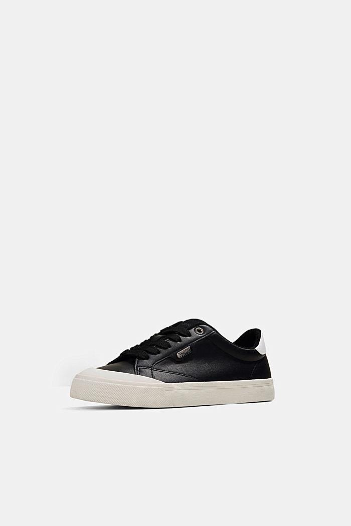 Sneaker in Lederoptik, BLACK, detail image number 2